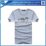 Promotional custom cotton mans sports tshirt with logo