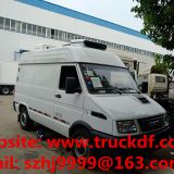 high quality and good price IVECO brand 4*2 LHD diesel refrigerated minibus for sale