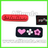 Custom high quality cheap soft silicone apparel clothing bags badges and patches