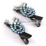 2013 newest fashion alloy ribbon rhinestone hair clip