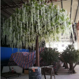 China new design artificial wisteria flower tree for office decoration