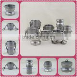 Stainless steel quick camlock coupling female / male quick coupler, camlock A/B/C/D/E/F/DC/DP Manufacturer in China