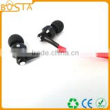 Headphone manufacturing factory high quality in-ear metallic stereo earphone for mobile phone