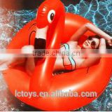 Red Inflatable Giant Red Flamingo Shaped Pool Float Ring Swimming Fun Toys