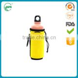Neoprene drawstring water bottle bag, glass bottle sleeve