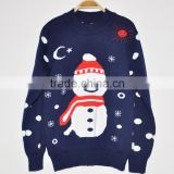 snowman pattern Winter christmas pullover Ugly christmas sweater