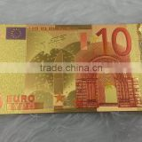 Colorful 24K Gold foil Banknote EURO 50 For Souvenir/golden foil paper money