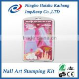 Stamping nail art / Salon Express / Acrylic Nail Kit As Seen On TV