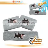 Embroidery Sport Cotton Custom Wristband And Headband