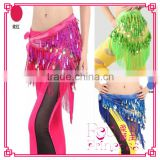 The new sequins triangle scarf, fashionable belly dance waist cloth ,Belly dance tassel belt