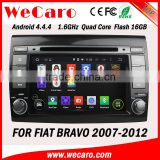 Wecaro Touch Screen WIFI 3G car dvd player for fiat bravo android 4.4 radio gps navigation multimedia system 2007 -2012