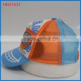 Factory price! customized blank mesh cap and nylon hat 5 panel blank cheap trucker caps wholesale