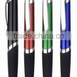 Promotion plastic ball point pen Hotel slim metal ball pen ball pen