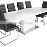 Hot sale modern wooden dining table and leather dining chair (SZ-DC015)