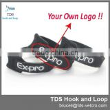 customized company logo hook and loop custom printed cable ties
