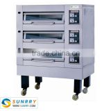 2015 New high efficiency stainless steel 3 deck bakery french bread oven could make of 110v electric stove oven for sale