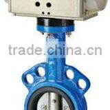 Hot Sell Alloy Water media Flanged Type Pneumatic Butterfly Valve With Pneumatic Actuator