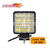 high lumen waterproof IP67 48W offroad led work light for truck,trailer,jeep,suv,atv,boat