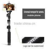 Professional handheld stick monopod bluetooth selfie stick with remote shutter in tripod
