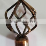 "Twisted Finial Iron Round Bird Nest curtain rod track runner ROD DIAMETER 1"" 5-8"" 6-8"" 1-2"" 1-1/2"""