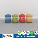 Hot sale cheap home Coffee Fabric Ottoman Round Stool BR-ST0404
