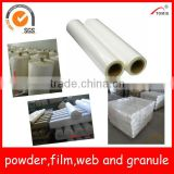 EVA(ethyl vinyl acetate) hotmelt adhesive film(low temp) for wall covering fabric