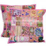 Patchwork Handmade Cushion Cover Decorative Cushion Embroidered Pillow Cover