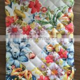 printed fabric,100% polyester quilting embroidered fabric for down coat,jacket and garment