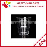 Promotional Custom Logo Printed Clear PP Plastic 10oz Disposable Ice Cream Cup Water Cup Juice Cup