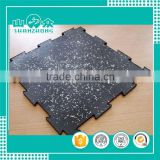 artificial turf industry leader new design widely used 500*500mm interlocking rubber floor mat