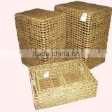 2015 New Product Water Hyacinth Laundry Basket for Home Decoration and Furniture