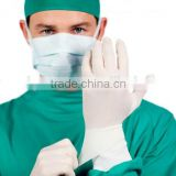 Powdered sterile surgical gloves