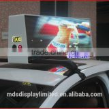 taxi top led display, ,960mm * 320mm,wide view angle,5mm smd high clear taxi sign, 5m-100m view distance,high clear,192*64 pixel