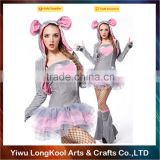 2016 Latest design women party dance costume fancy dress sexy bunny costume