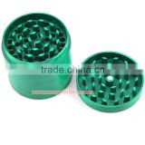 "VA Zinc alloy Herb Grinder Crusher for Tobacco 4 Piece 2.2"" Metal Hand Muller Spice Green 4pc"