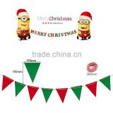 2016 New Good Quality Felt Outdoor Christmas Hanging Banner