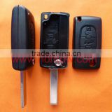 Big promotion key blank for PSA key Citroen 407 3 button remote key shell citroen c4 remote key