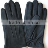 Man pig suede leather gloves thick to keep warm, leisure of basic style