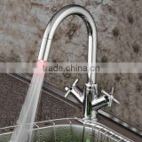 single handle brass led kitchen faucet