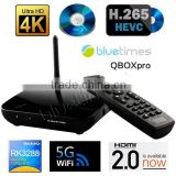 OEM rk3288 android media player 4.4 wifi with quad core Mali-T764 GPU XBMC13.1 support bluetooth 4.0 module