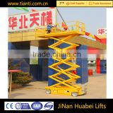 machine manufacturers electric hydraulic auto scissor lift battery power used aerial work platform