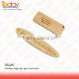 ECOZONE 15 years experience new eco bamboo wooden bookmark