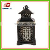 Decorative Moroccan temple tower hanging metal lantern with different patter for indoor and outdoor use