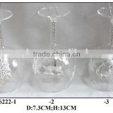 Glass Vase Craft with Christmas Figurine inside