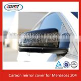 FOR W204 MERCEDES MIRROR COVER CAP 100% REAL CARBON FIBER C350 C300 C63 W212