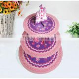 2014 new style wedding 3 tiers paper cake stand