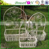 Antique S/3 Metal Wall Hanging Basket Plant Holder For Garden/Home Decor PL08-5060