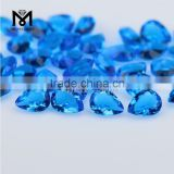 Wuzhou Wholesale Blue Topaz Double Briolette Pear 6x8 Glass Stone
