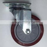 Medium duty single ball bearing pvc caster, Medium duty Industrial casters,Medium duty PU furniture swivel castor