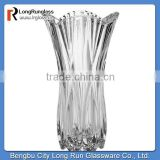 LongRun elegent glass crafted vase with shaped battom glassware wholesale